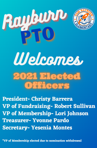 Rayburn PTO  2021 Elected Officers