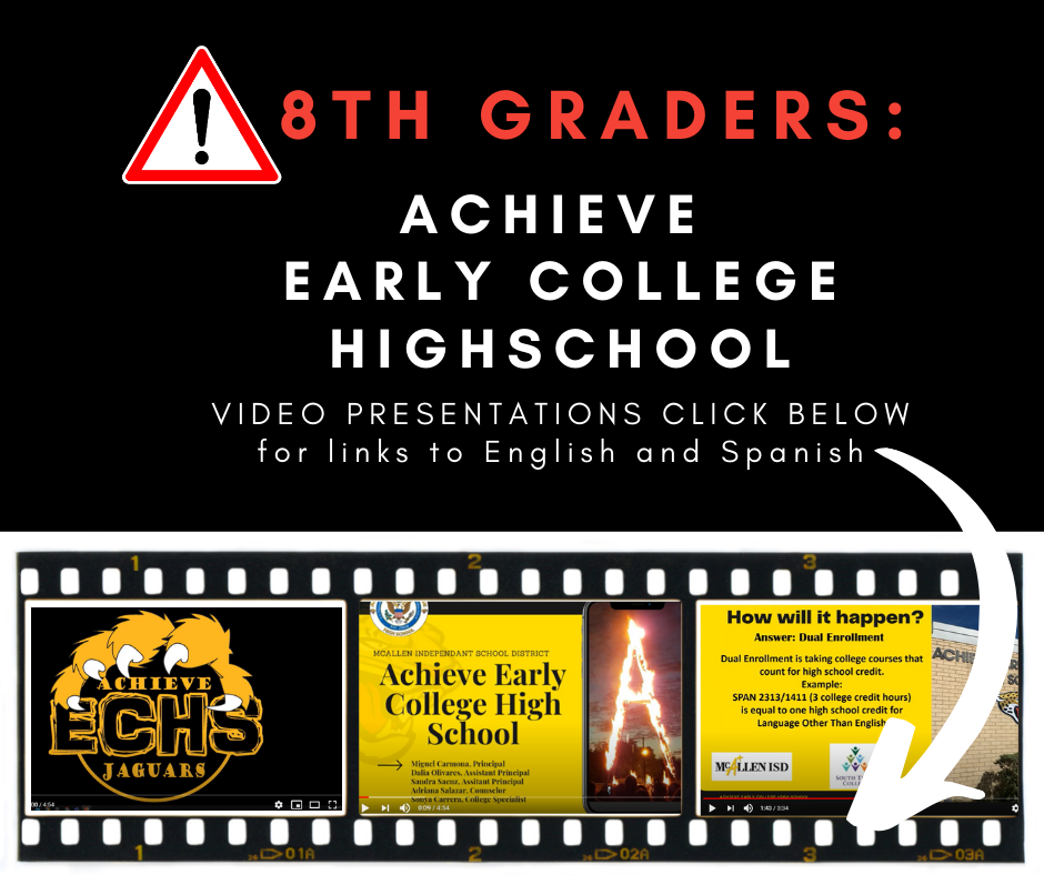 AECH Video Presentations for 8th Graders