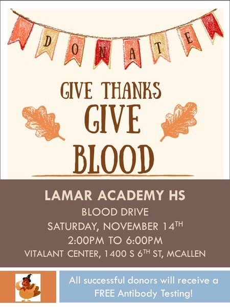 Student organizes blood drive for Nov 14