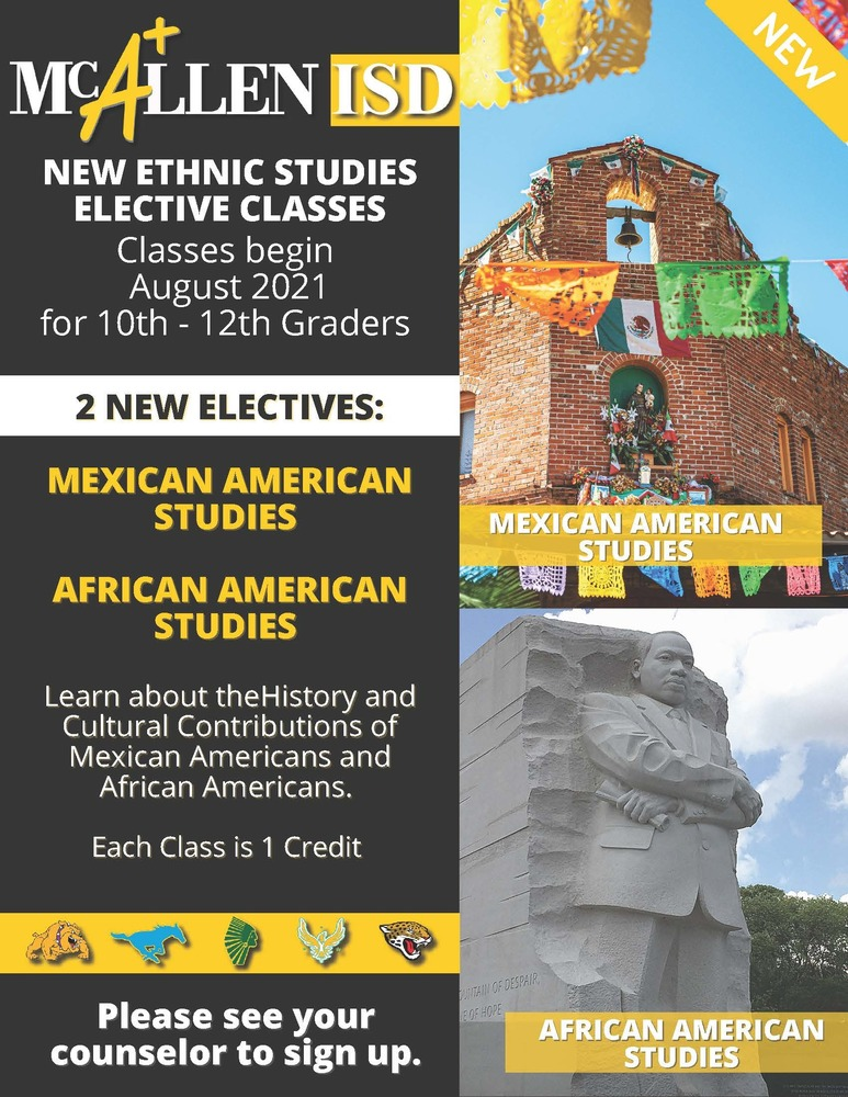 McAllen ISD now offering 2 new ethnic studies classes