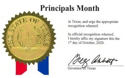 Principal's Month Proclamation