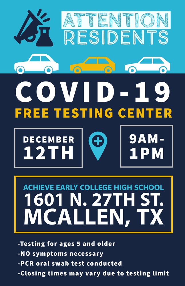 Free COVID-19 testing set for Sat., Dec. 12