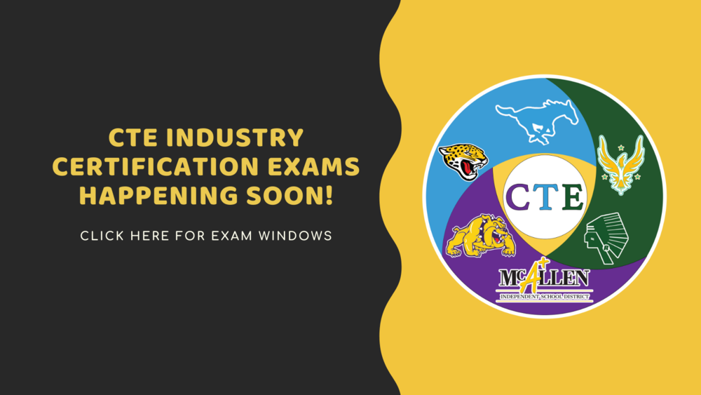 CTE Industry Certification Exams happening soon