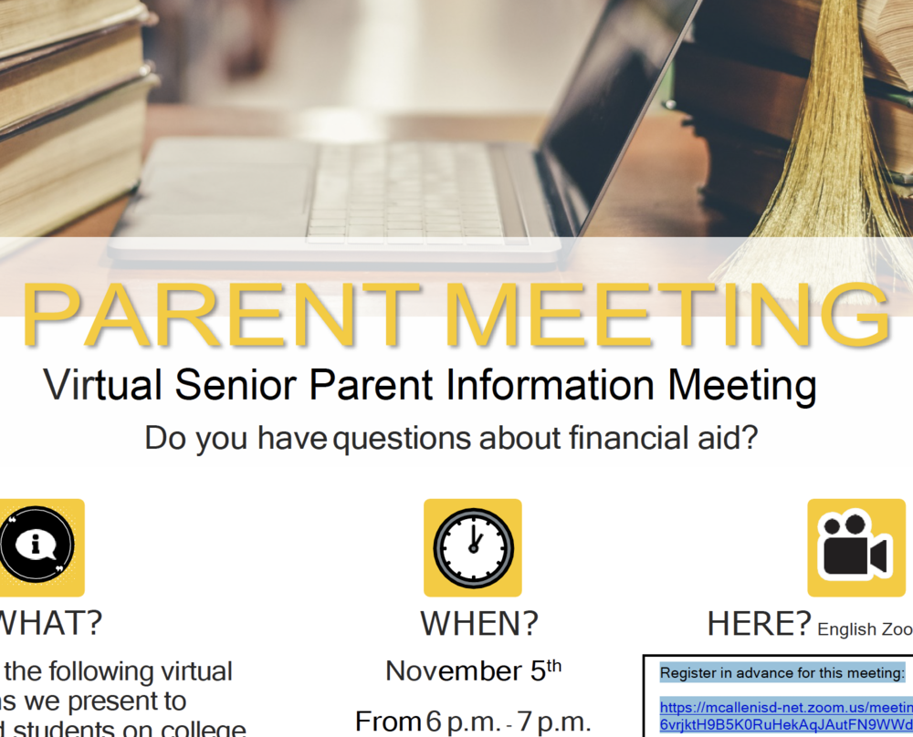 Senior parent info meeting set for Nov 5