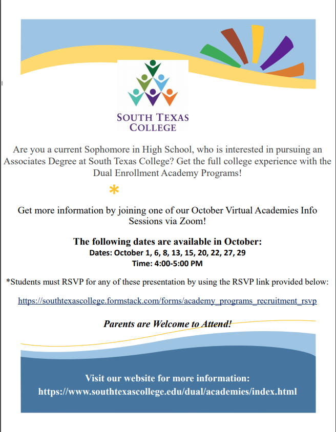 STC DE Academies Informational Sessions