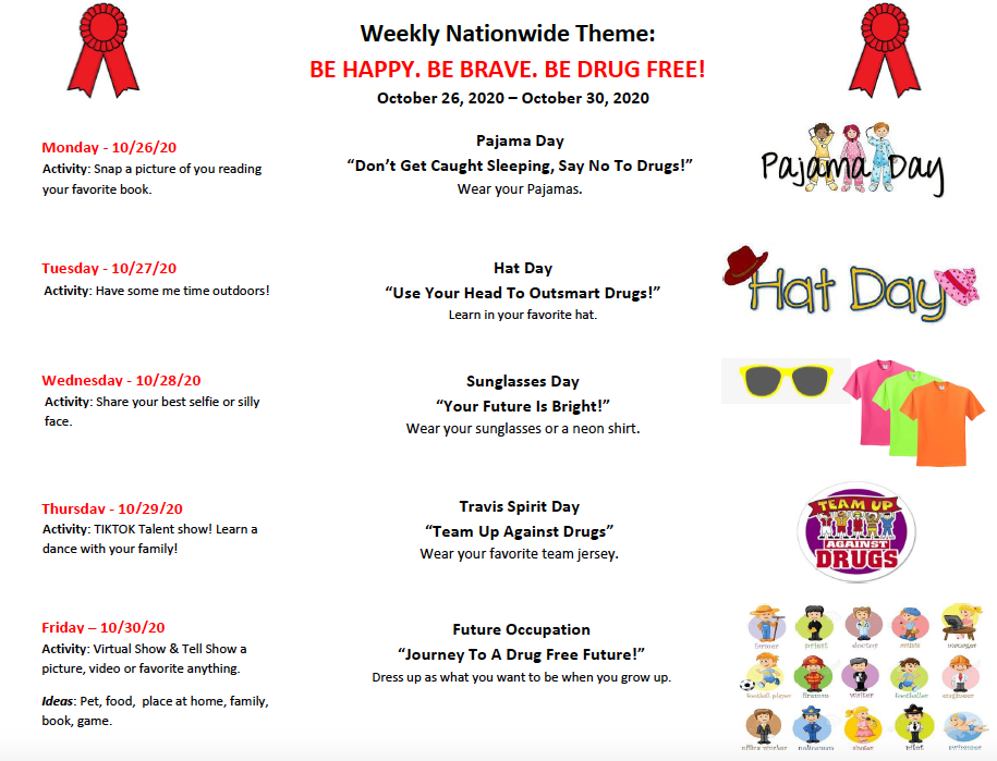 Travis Red Ribbon Week Activities