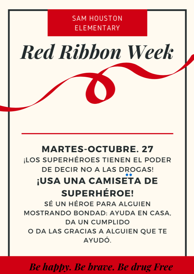 Red Ribbon WEek: Spanish Tuesday