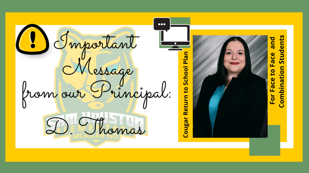Message from our principal: D. Thomas
