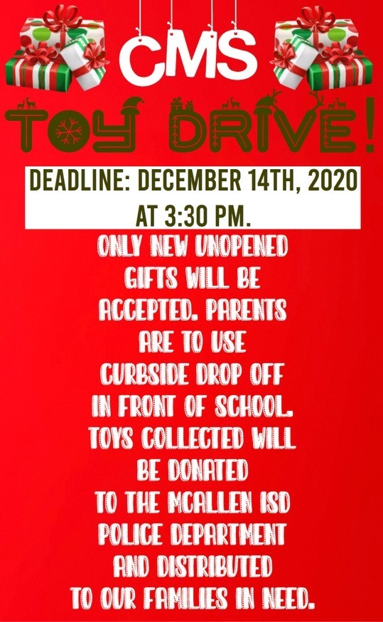 CMS Toy Drive December 10-14