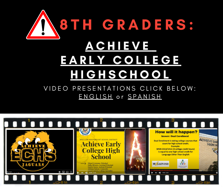 Achieve Early College Highschool Video Flyer
