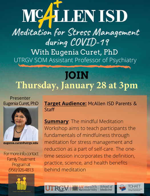 Workshop: Meditation for Stress Management during COVID-19