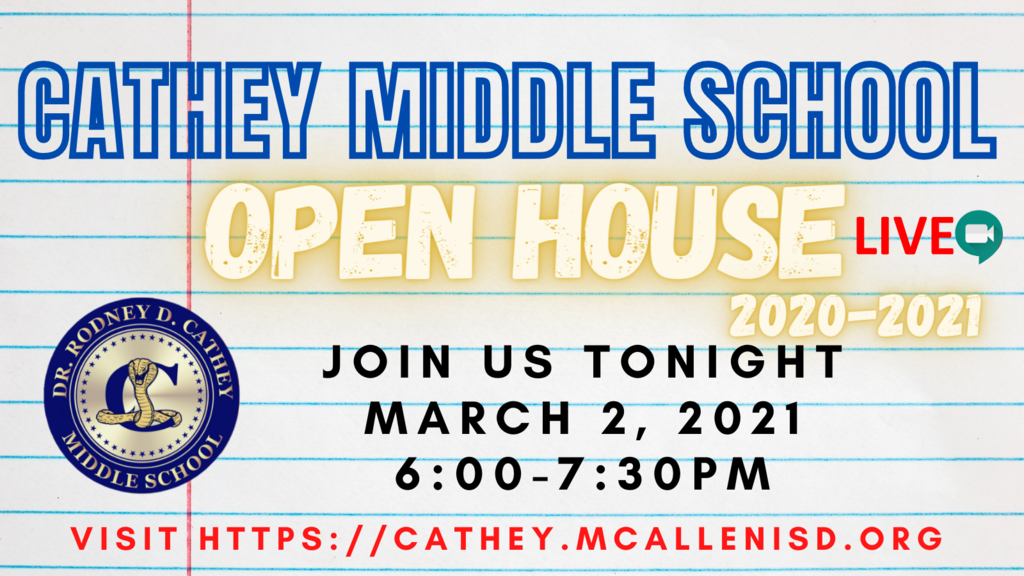 CMS Open House March 2, 2021 from 6-7:30